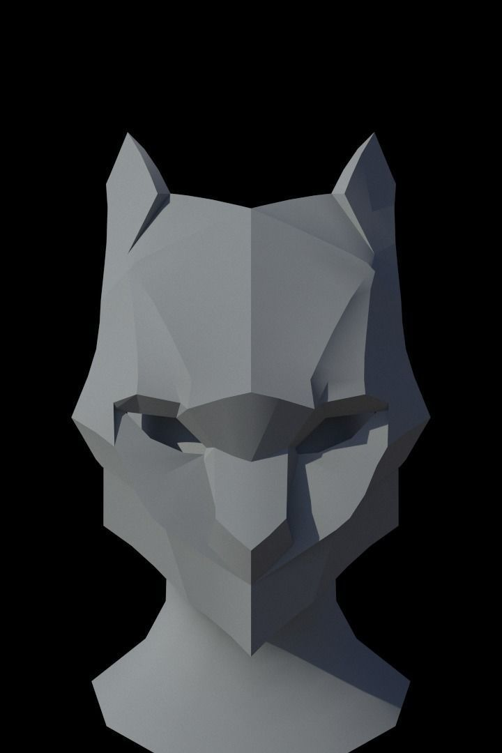 fox mask model cgtrader