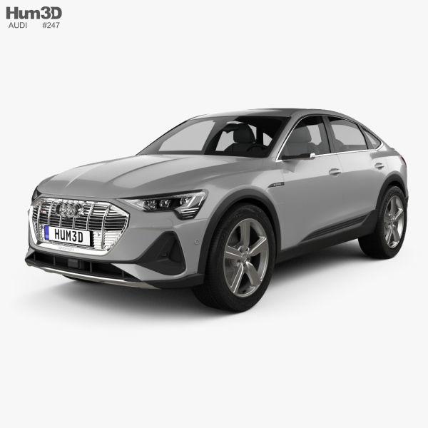 3D Audi E-tron Sportback S-line Coupe 2020