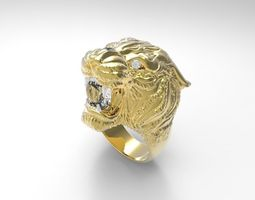 3d printable model lion carrera ring