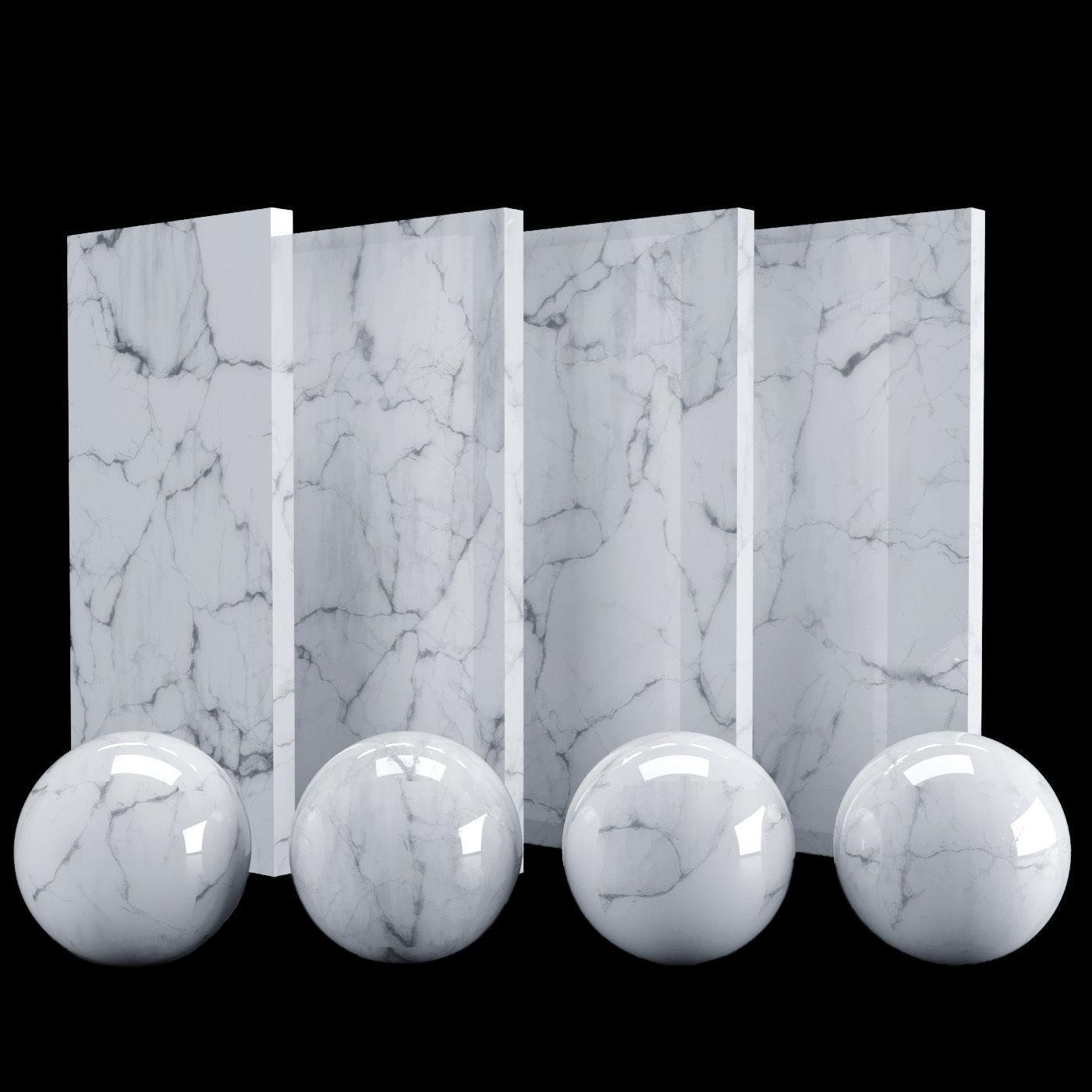 White Carrara Marble Texture Pbr