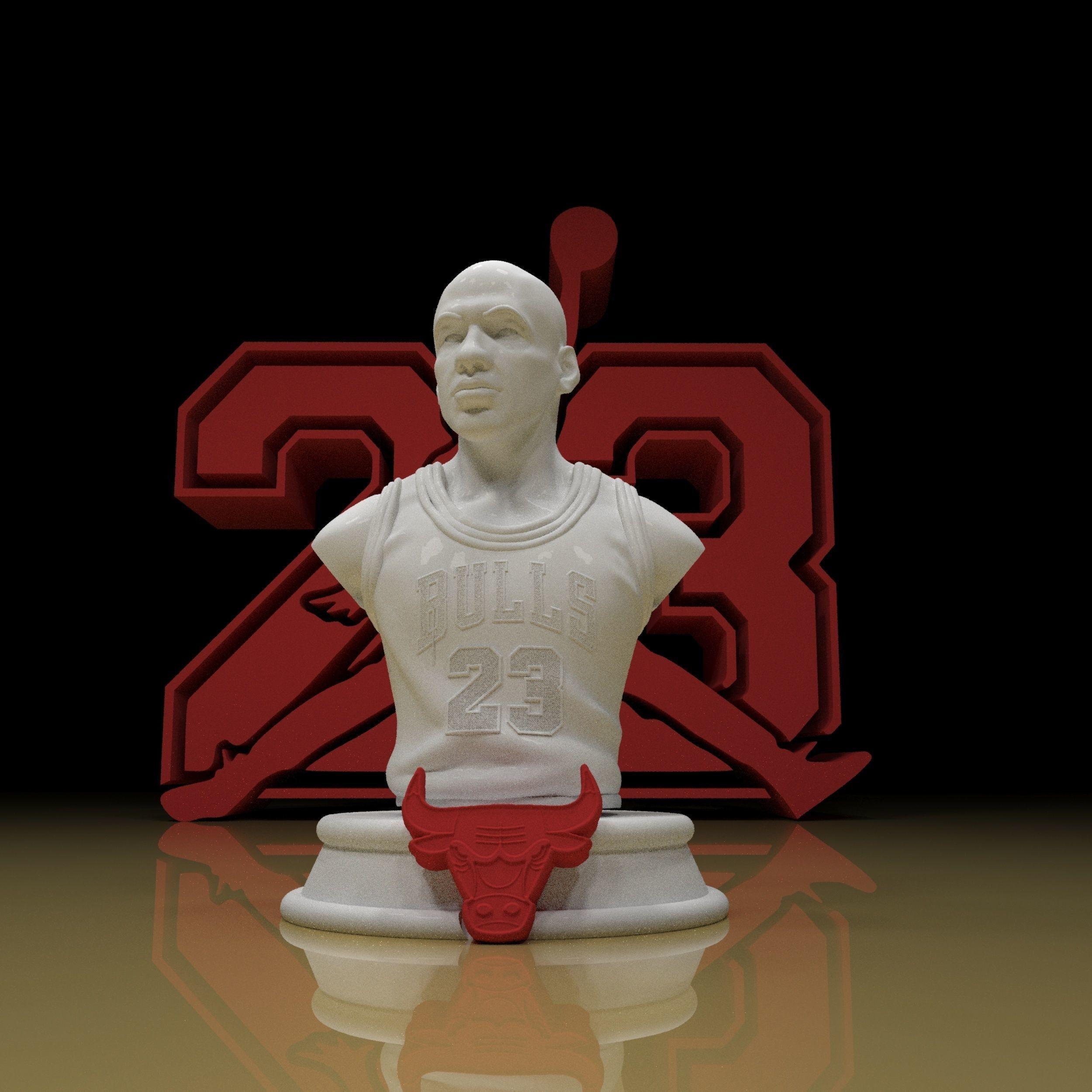 Jordan 23 sculpture 3d model ready for printing