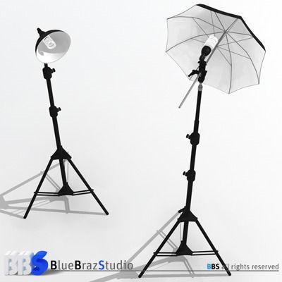 3D model Light umbrella and lamp holder | CGTrader
