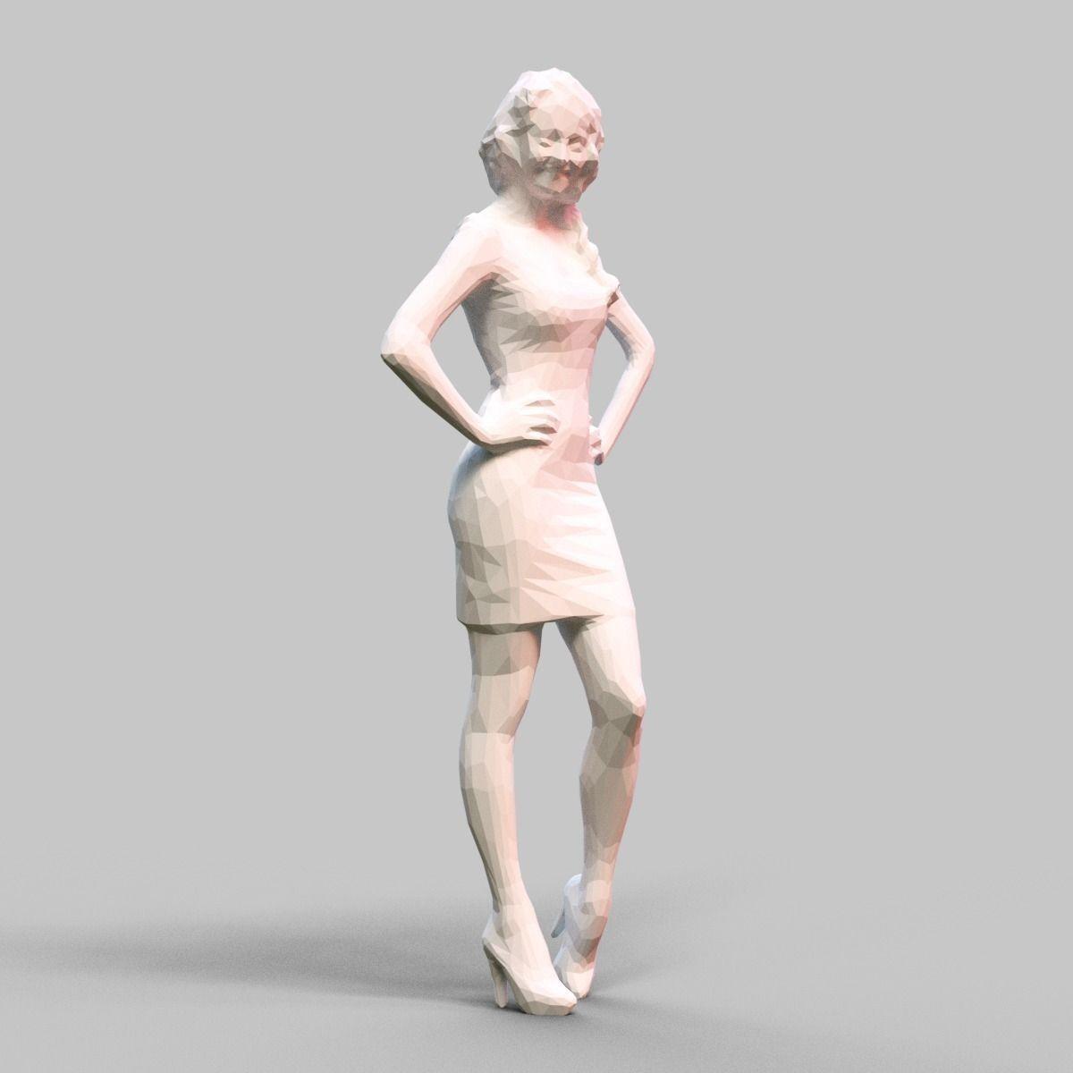 Girl Posing 1 3D Model 3D Printable .obj