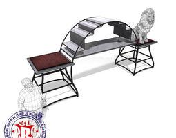 3D Lions circus metal podium