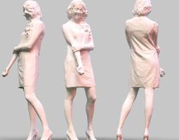 girl posing 6 3d print model