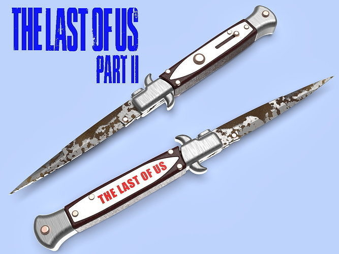 The Last of Us Part II SWITCHBLADE knife Ellie cosplay
