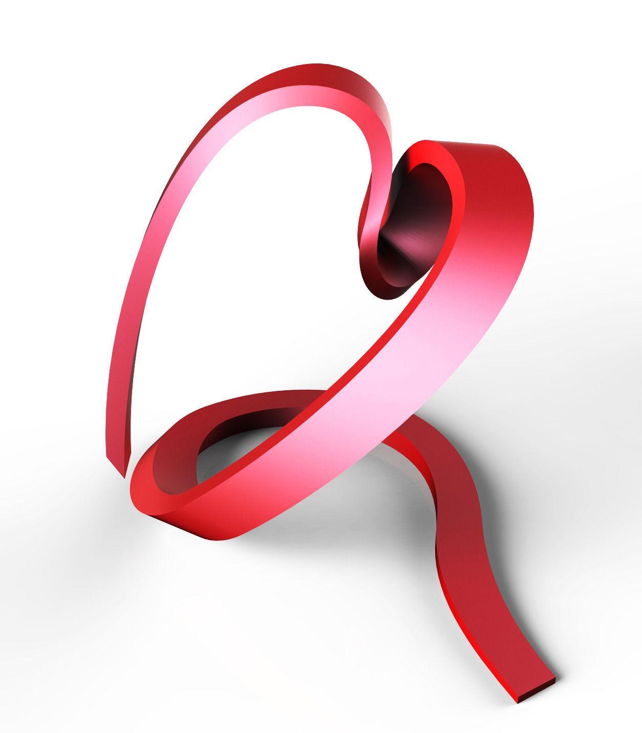 Ribbon Heart 3d Model 3d Printable Stl Cgtrader Com