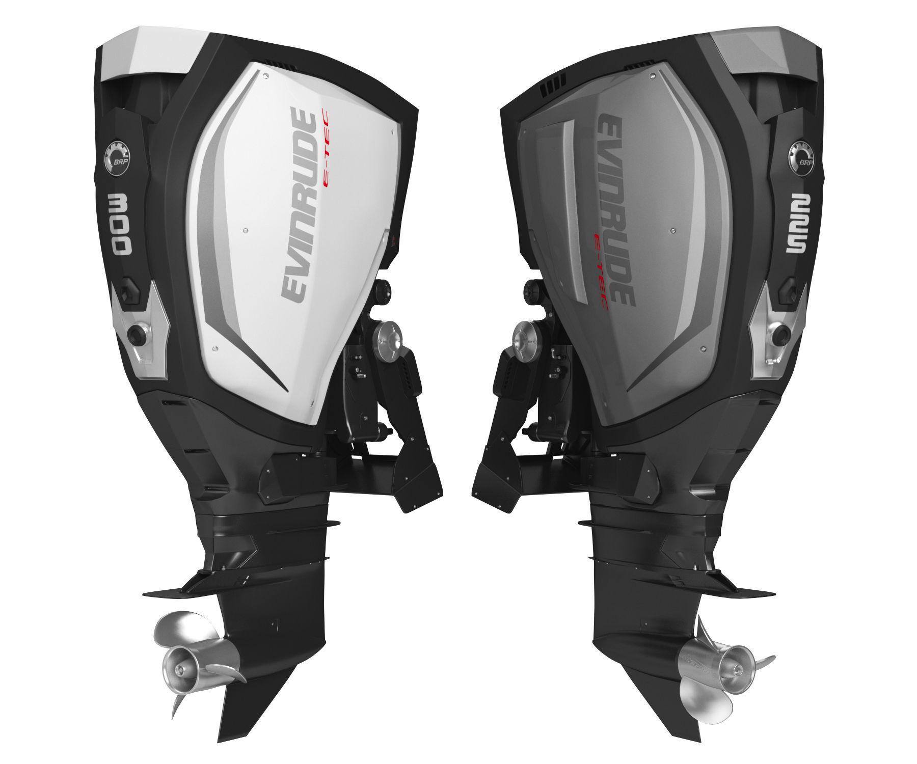 Evinrude E-TEC G2 Outboard Motor 3D Model