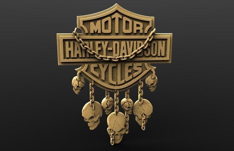 Harley Davidson skulls