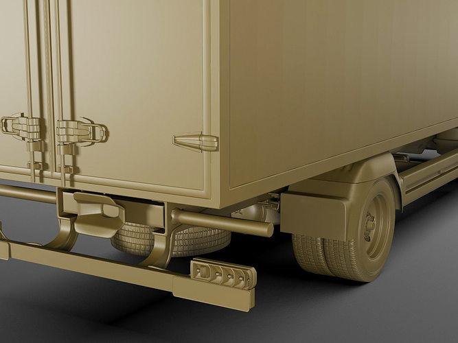 mercedes atego 2014 long 3d model max obj 3ds fbx c4d lwo lw lws 17