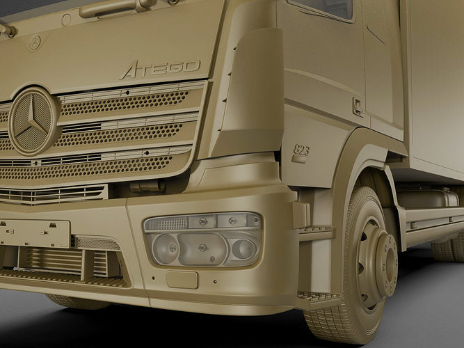 mercedes atego 2014 long 3d model max obj 3ds fbx c4d lwo lw lws 15