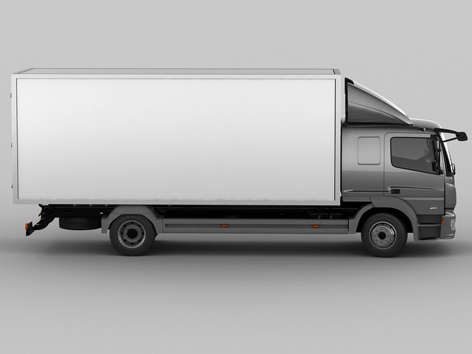mercedes atego 2014 long 3d model max obj 3ds fbx c4d lwo lw lws 3