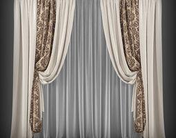 curtain 3d model-86