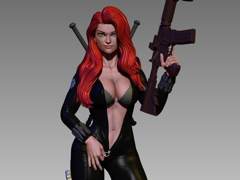 Black Widow Undressing