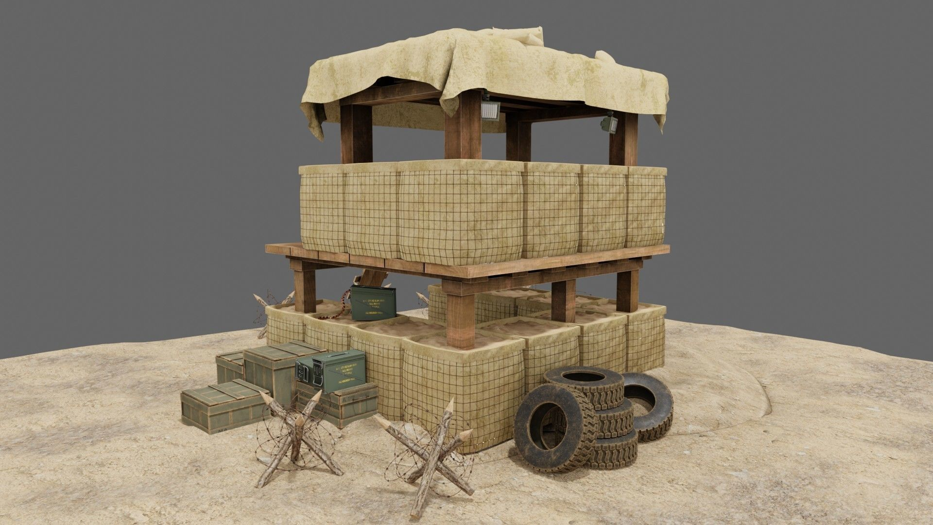 Military Trench Tower