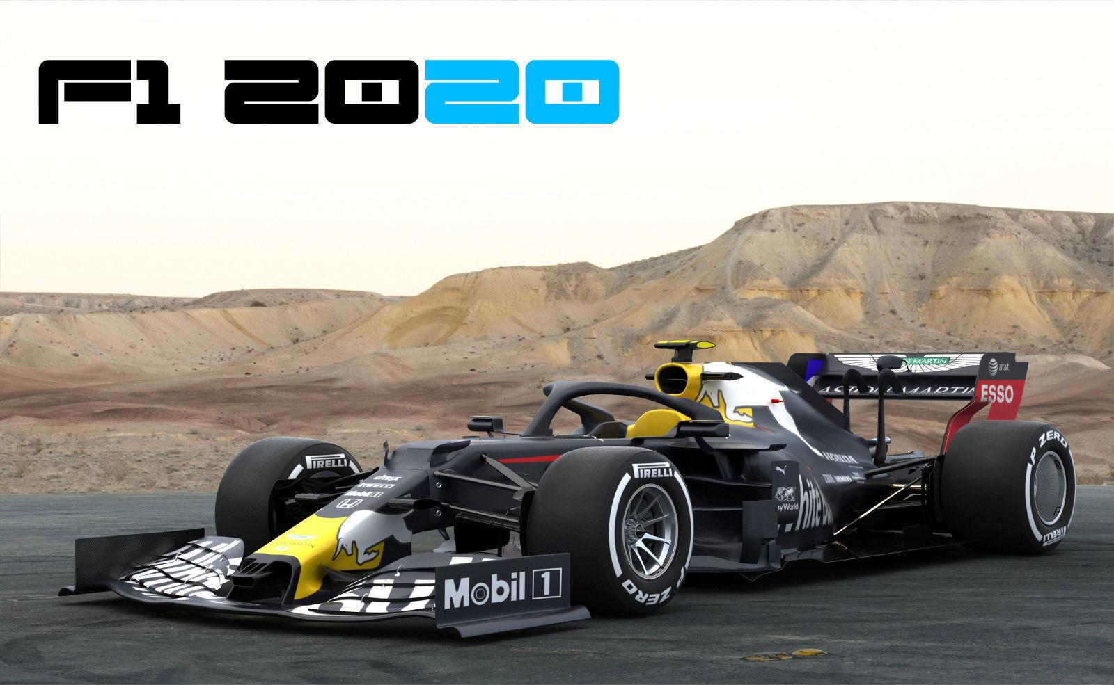 F1 White Bull WB16 2020 3D model MAX OBJ FBX C4D