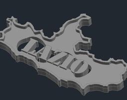 3D print model Regione Lazio