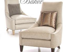 Baker Bel-Air Lounge Chair 3D model