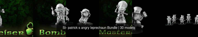 St- patrick s angry leprechaun Bundle