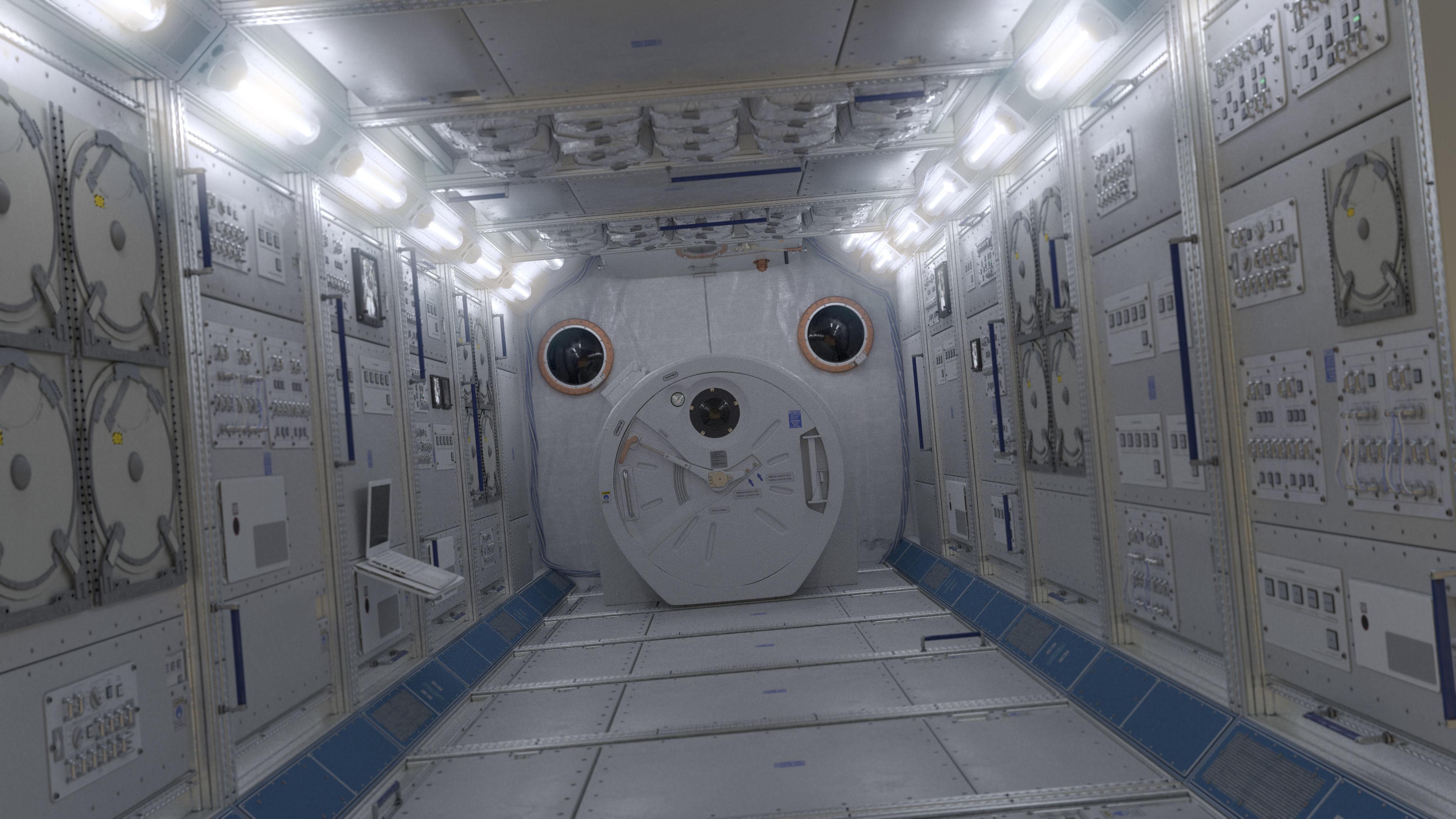 ISS Spaceship Interior