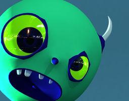 First Model  Monster Cartoon 3D Model