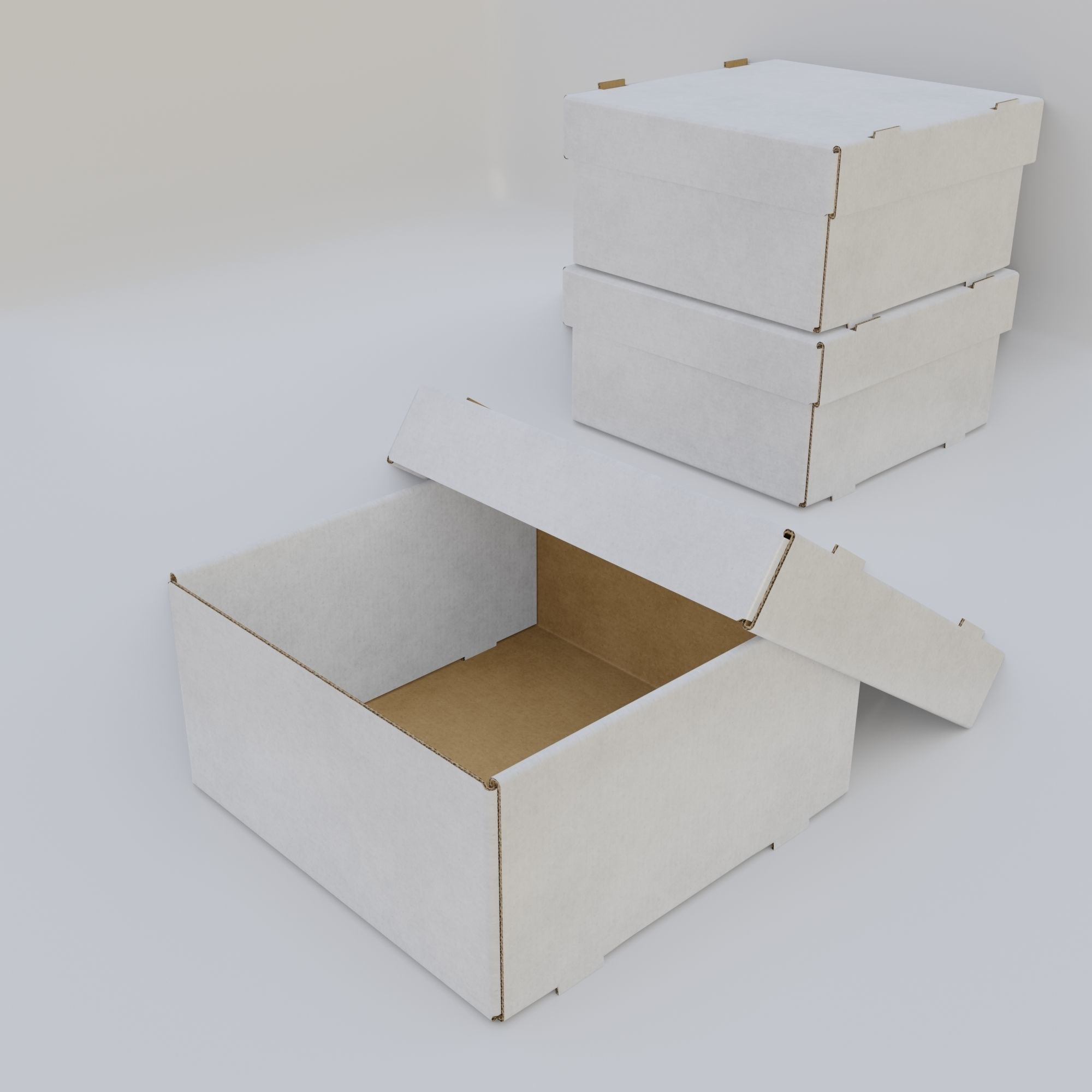 Cardboard Self-Assembly Box With Lid