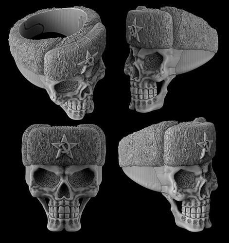The skull ring in the Russian hat