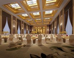interior Banquet hall 3D