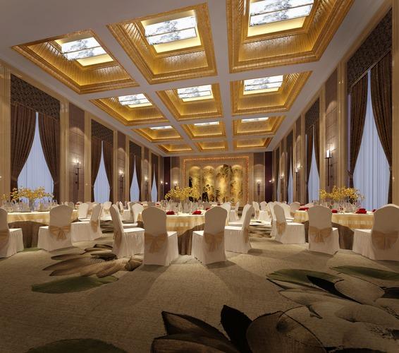 Banquet Hall Design: Interior Banquet Hall 3D