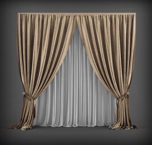 Curtain 3d Model 3 Cgtrader