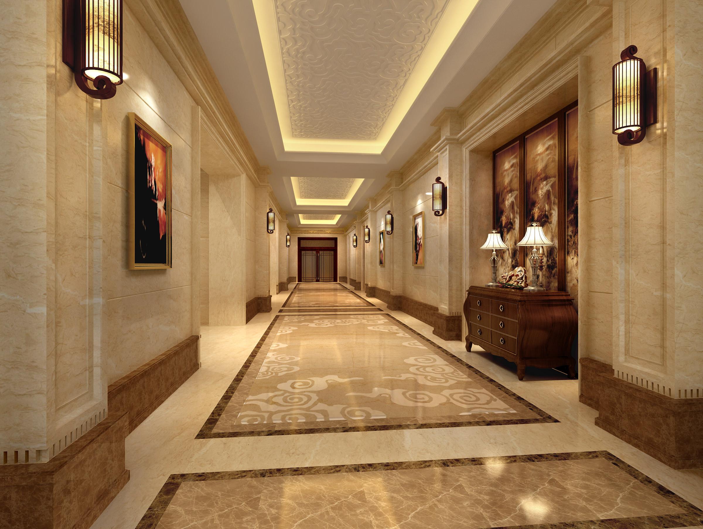 Corridor 3d model max - Schilderij model corridor ...