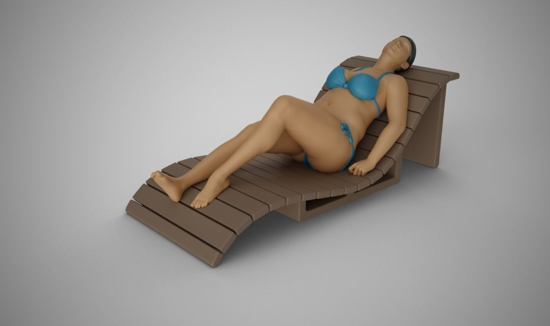 Woman on the Sunbed