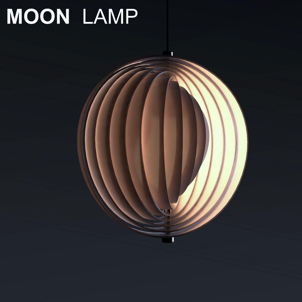 Panton lighting Pendant Moon Lamp By Verner Panton 3d Model Max Obj Mtl Fbx Vntg Moon Lamp By Verner Panton 3d Cgtrader