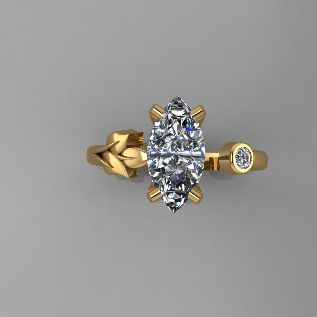Ring - Diamond 3D print model