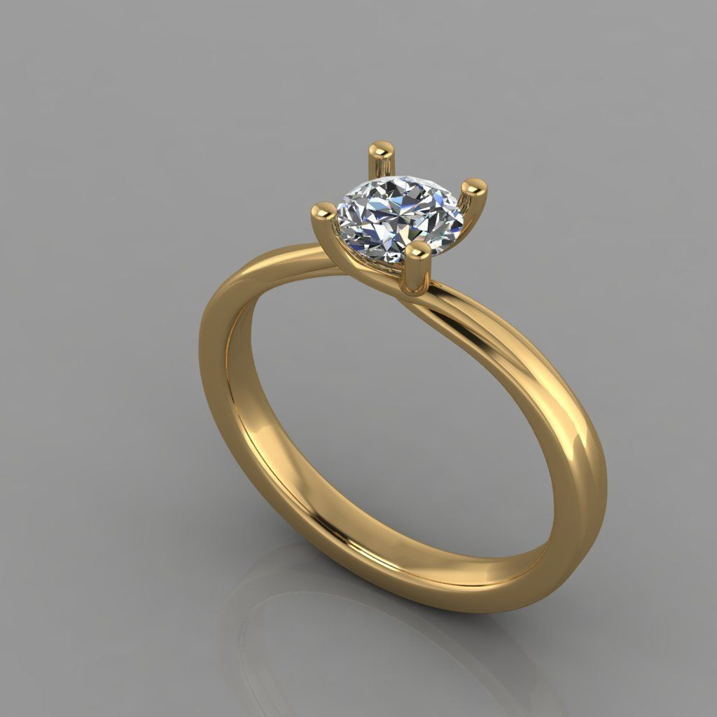 Ring - Diamond 3D print model