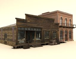Low Poly Wild West Buildings2 3D model