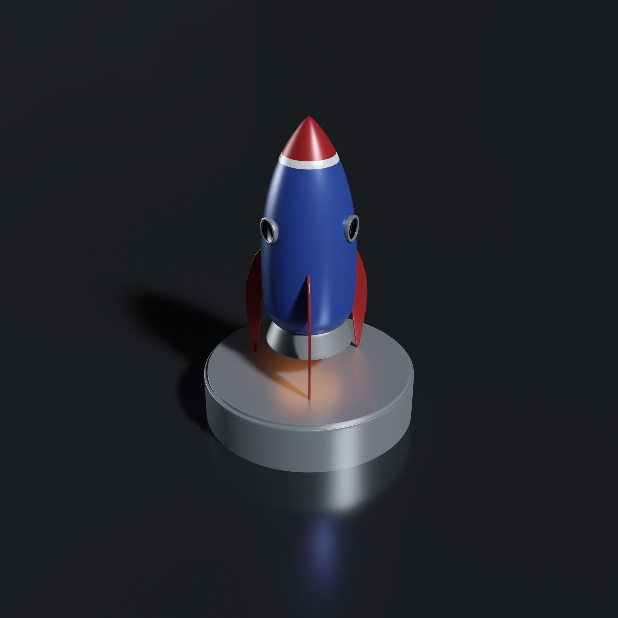 Cartoon Rocket Ship