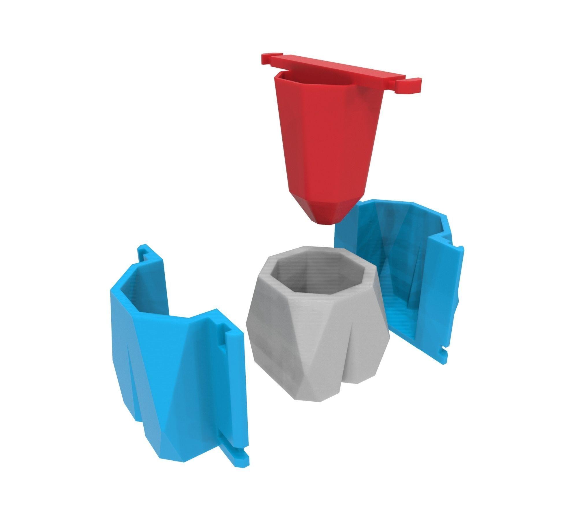 Molde para maceta de concreto 1