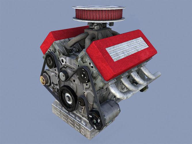 car engine 3d model obj mtl fbx dae tga 1