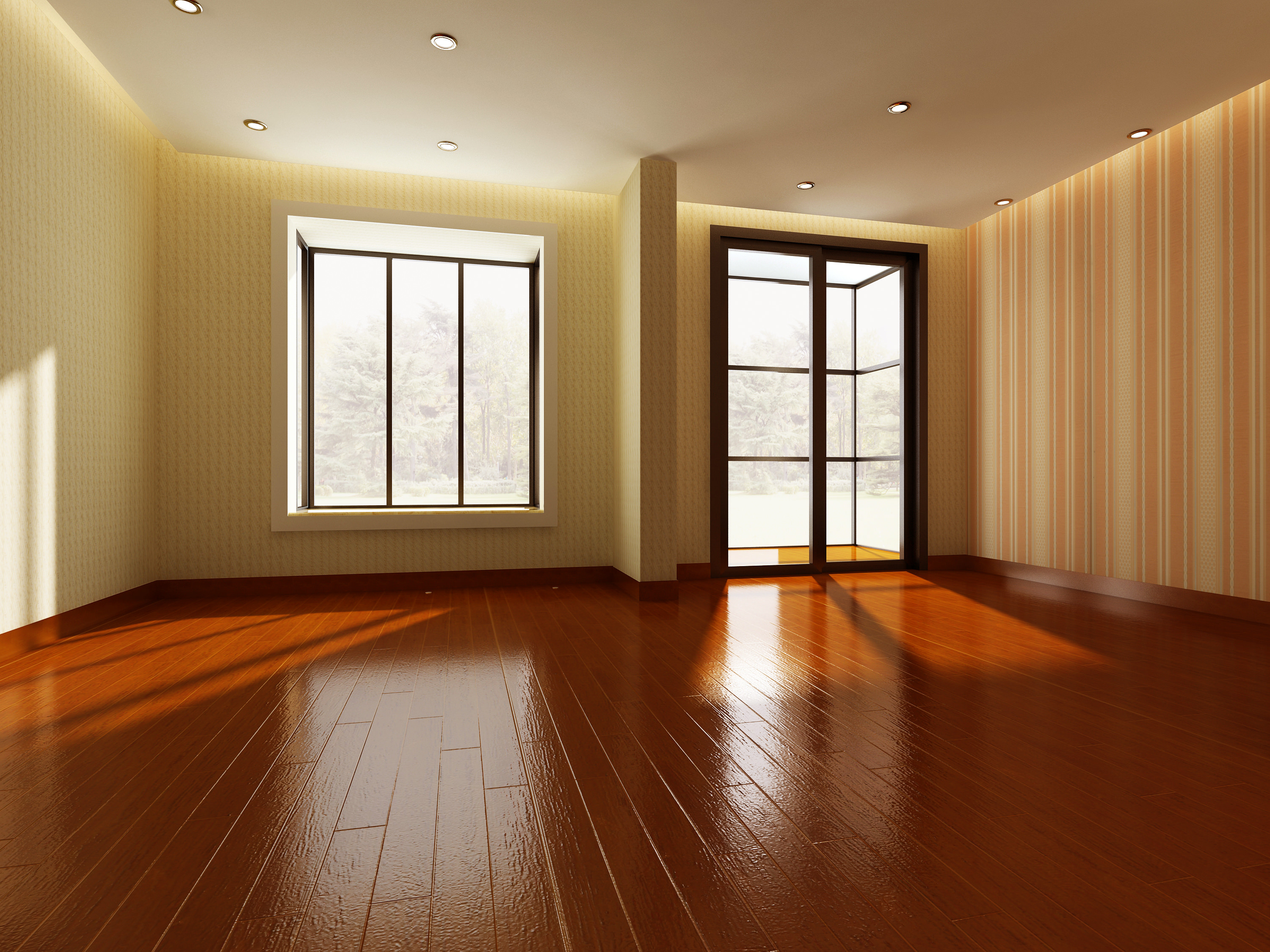 Empty room 3d model max for Living in a model apartment