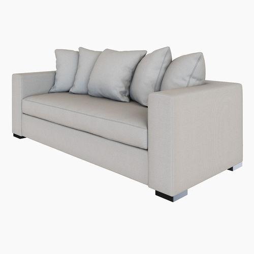 West Elm Walton Sofa 3d Model Max Obj Fbx Mtl Cgtrader Com
