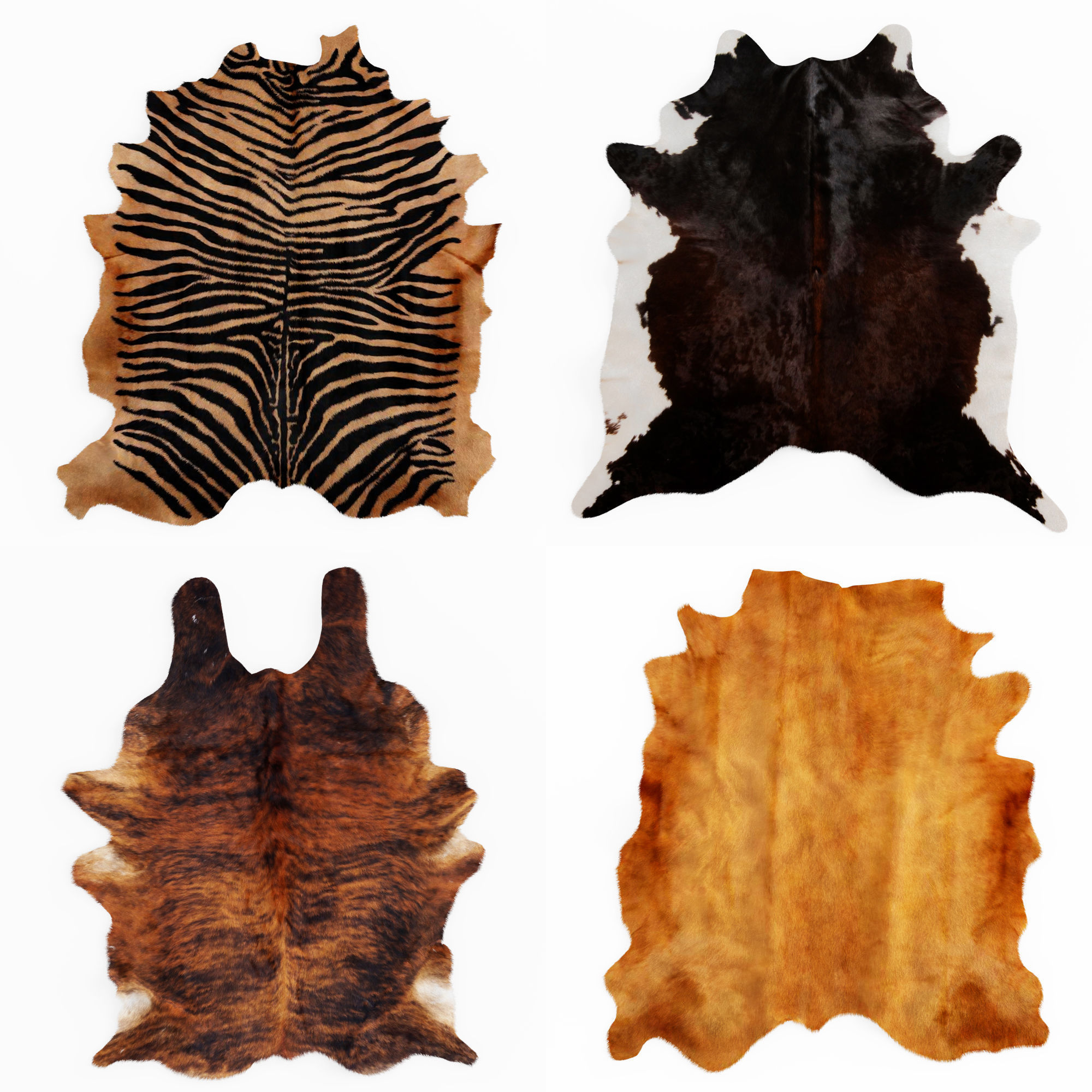 Four rugs from animal skins 03