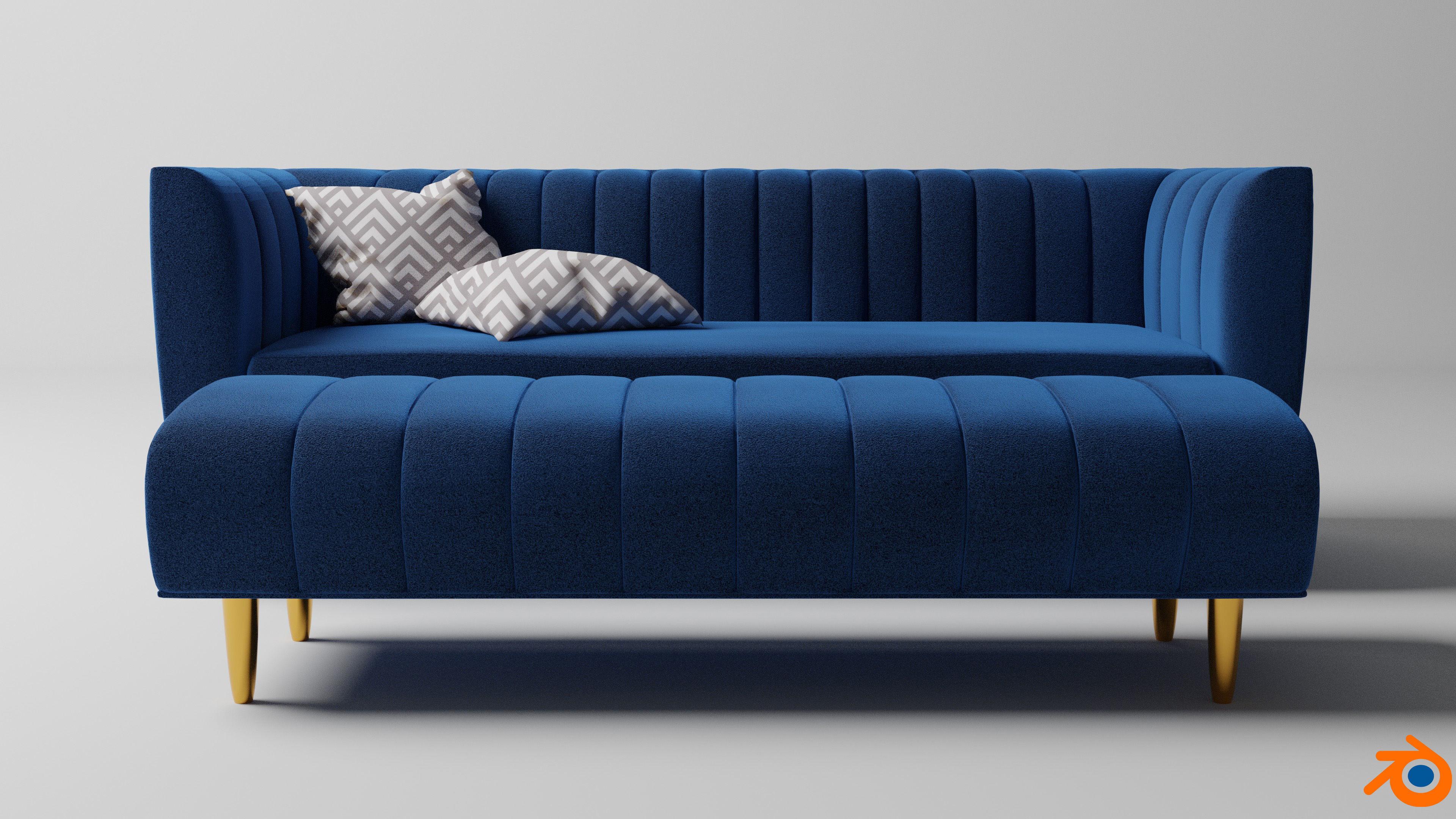 Amicie sofa set 3D model | CGTrader