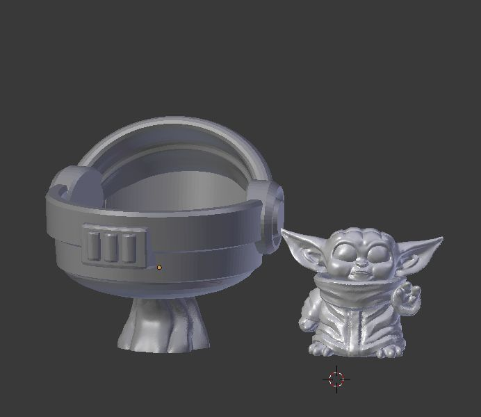 Baby alien with hover pod