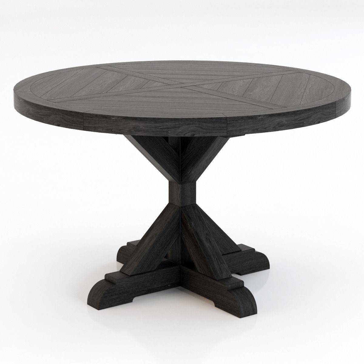 Lovely Restoration Hardware Salvaged Wood X Base Dining Table 3d Model Max Obj 3ds  Fbx Mtl 1 ...