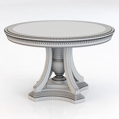 ... Restoration Hardware St James Round Dining Table 3d Model Max Obj 3ds  Fbx Mtl 6 ...