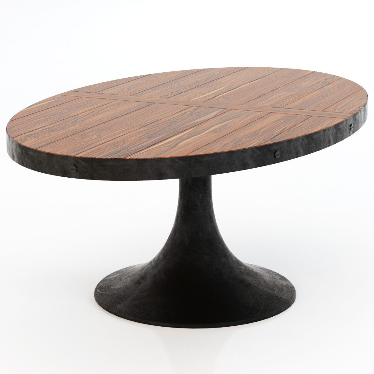 Restoration Hardware Aero Oval Dining Table 3d Model Max
