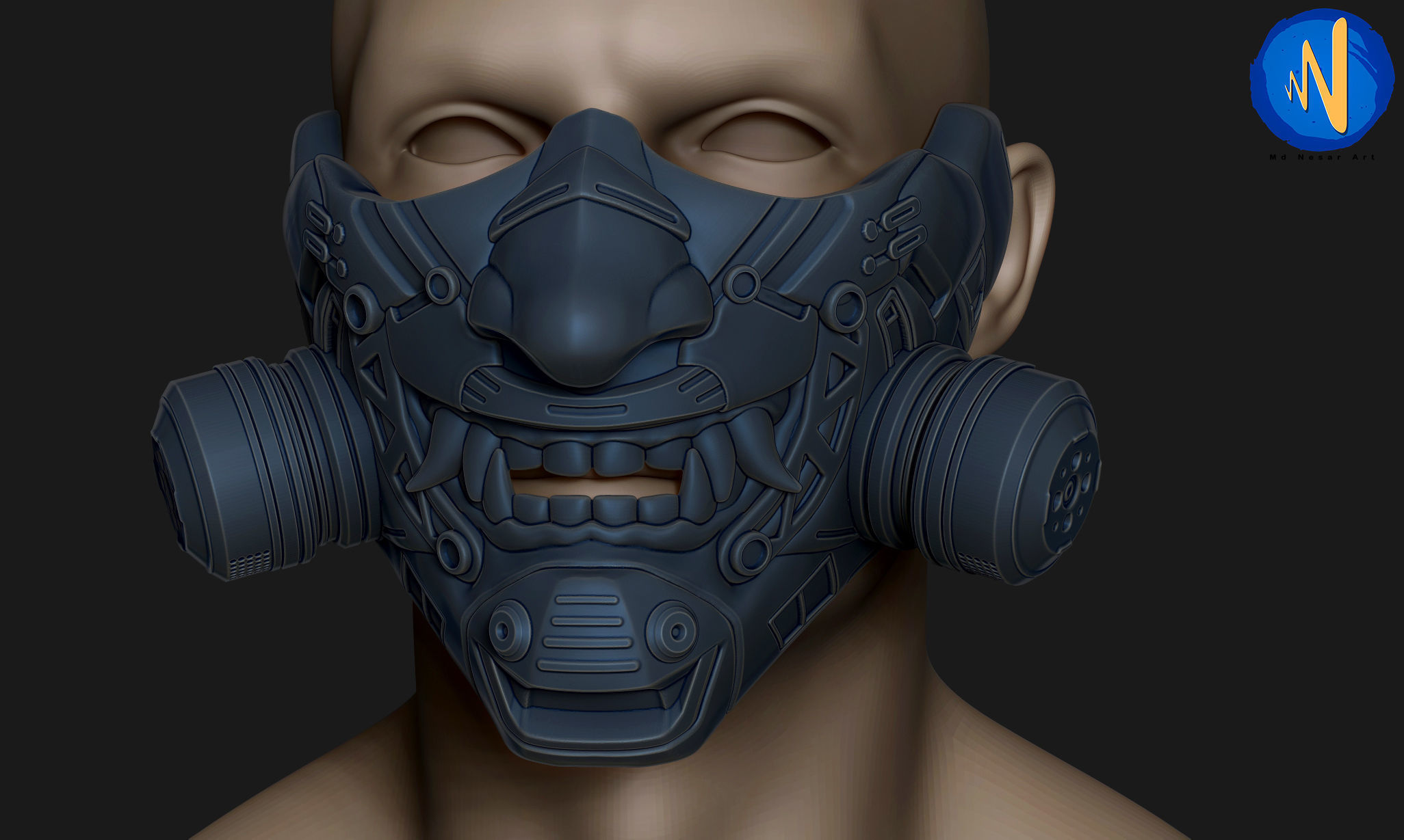 Scifi ONI Mask for 3d print