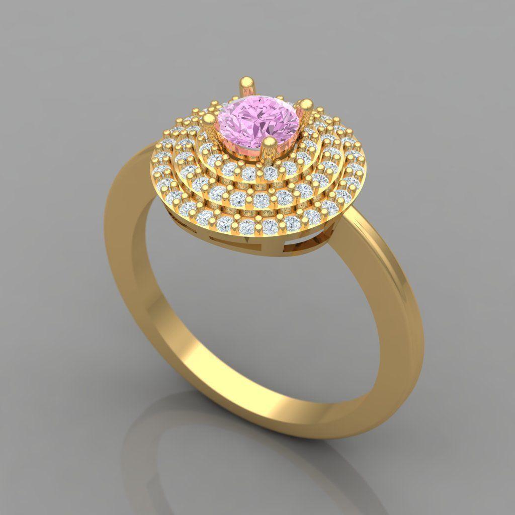 Diamond - Ring 3D Print Model
