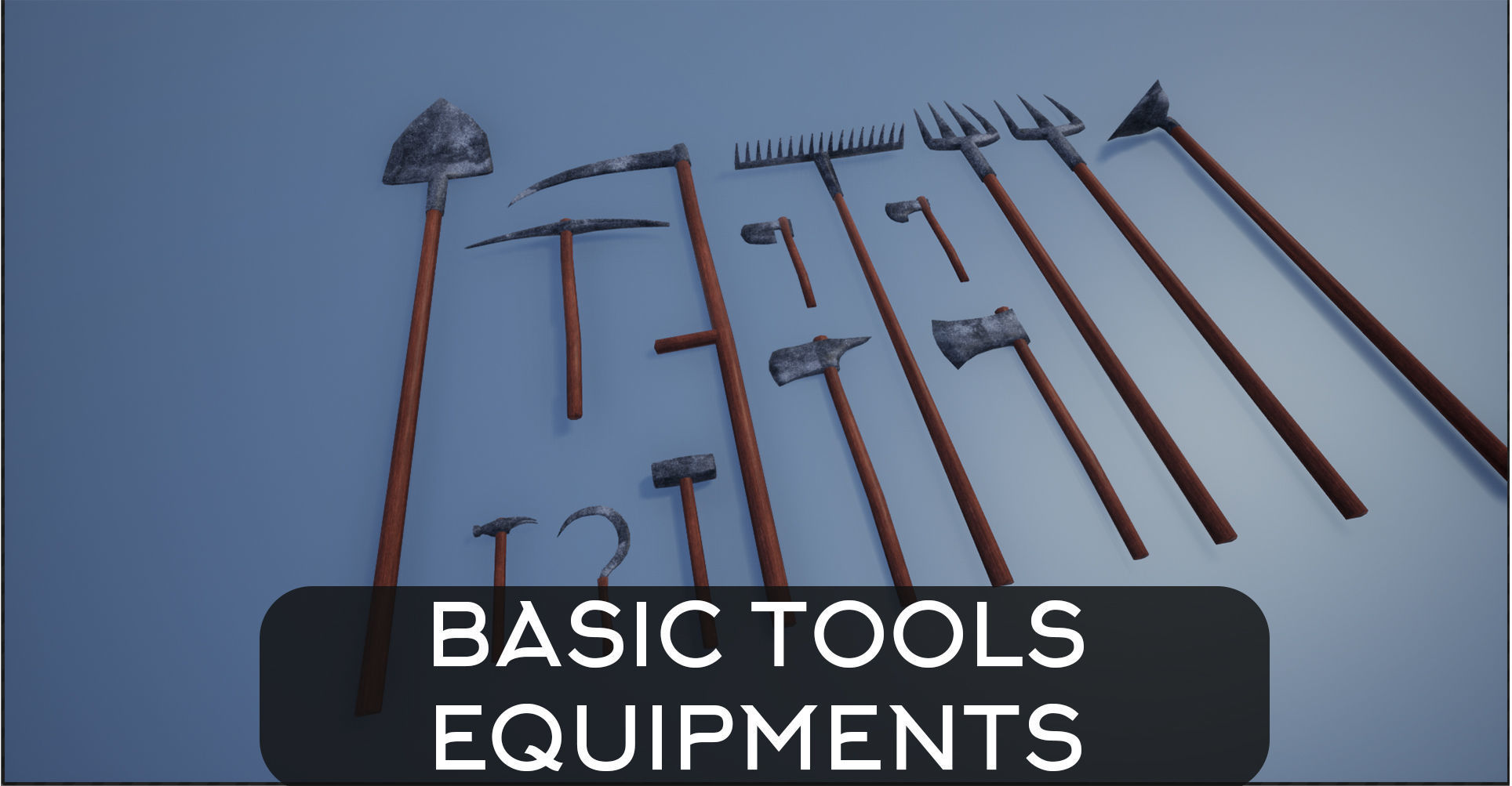 Lowpoly Basic Equipments and Tools